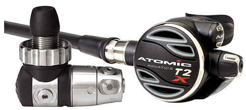 Atomic T2x Titan mit Oct.T2 Titan + Mares Dragon AT
