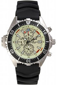 chris benz chronograph 200m neon tauchausr stung. Black Bedroom Furniture Sets. Home Design Ideas