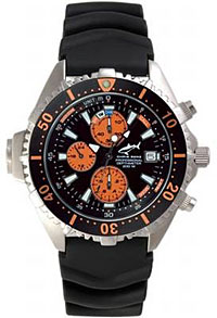 chris benz chronograph 200m orange tauchausr stung. Black Bedroom Furniture Sets. Home Design Ideas